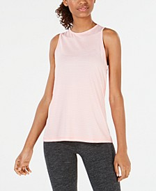 Striped Keyhole Tank Top, Created for Macy's