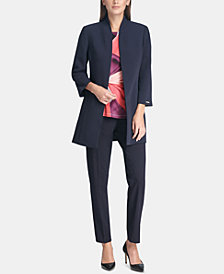 DKNY Open-Front Jacket, Side-Knot Top & Skinny Pants, Created for Macy's
