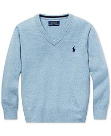 Polo Ralph Lauren Toddler Boys Cotton V-Neck Sweater