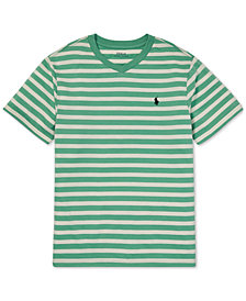 Polo Ralph Lauren Big Boys Striped V-Neck T-Shirt