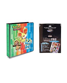 "Pokemon X and Y 2"" 3 Ring Binder Card Album with 100 Ultra Pro Platinum 9 Pocket Sheets"