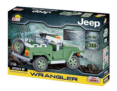Cobi Small Army Jeep Wrangler Us Military 1 18 Scale 250 Piece
