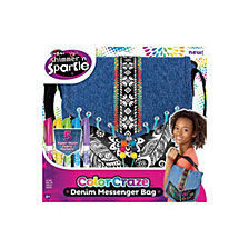 Cra Z Art Shimmer N Sparkle Color Craze Denim Messenger Bag Kit