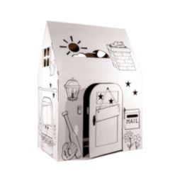 Easy Playhouse Cardboard Clubhouse