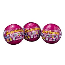 Surprizamals 3 Pack Mystery Balls with Collectible Plush Toy Series 8