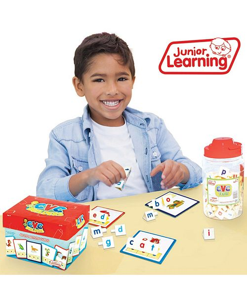 Junior Learning CVC Tri Blocks Tub Word Building Set