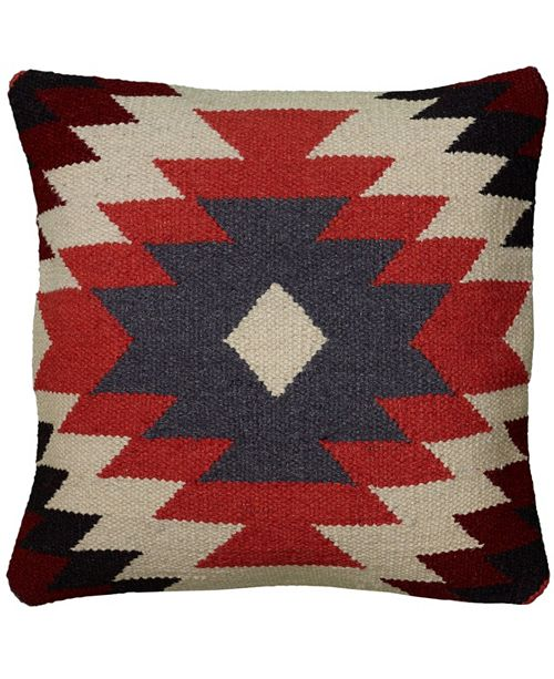 "Rizzy Home 18"" x 18"" Large Central Motiff Accents Pillow Cover"