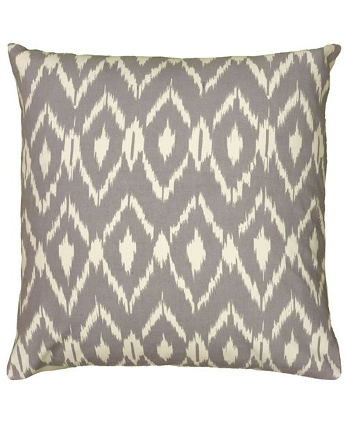 "Rizzy Home 18"" x 18"" Ikat Down Filled Pillow"