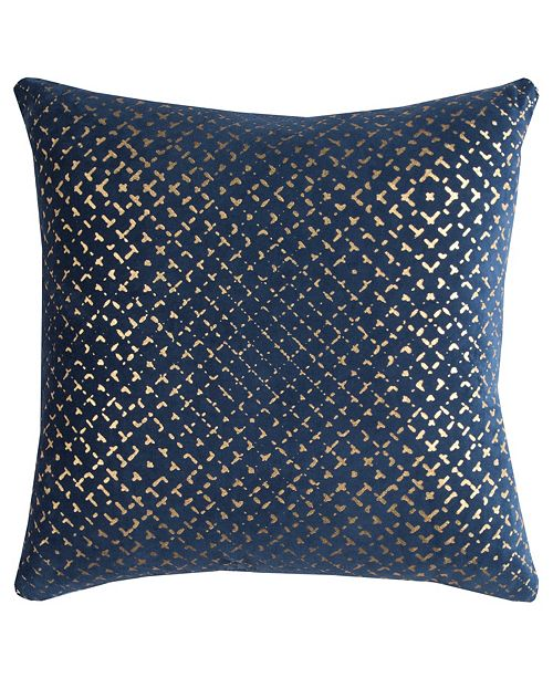 """Rizzy Home 20"""" x 20"""" Geometrical Design Down Filled Pillow"""