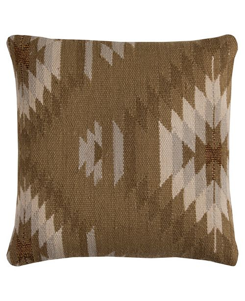 """Rizzy Home 20"""" x 20"""" Southwest Down Filled Pillow"""