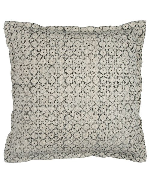 """Rizzy Home 22"""" x 22"""" Ditsy Pillow Down Filled"""