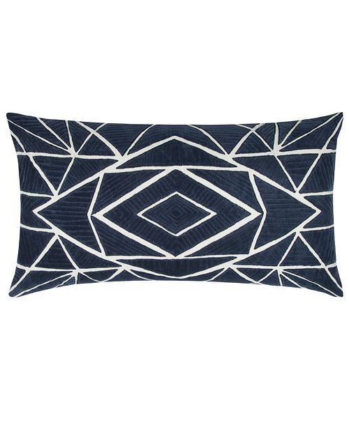 "Rizzy Home 14"" x 26"" Geometrical Design Down Filled Pillow"