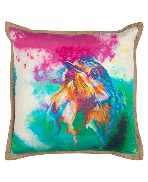 """Rizzy Home Mariah Parris 20"""" x 20"""" Animal Print Down Filled Pillow"""