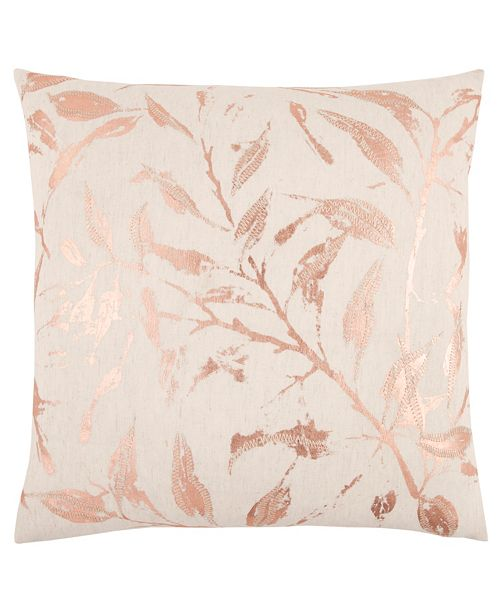 """Rizzy Home 20"""" x 20"""" Floral Down Filled Pillow"""
