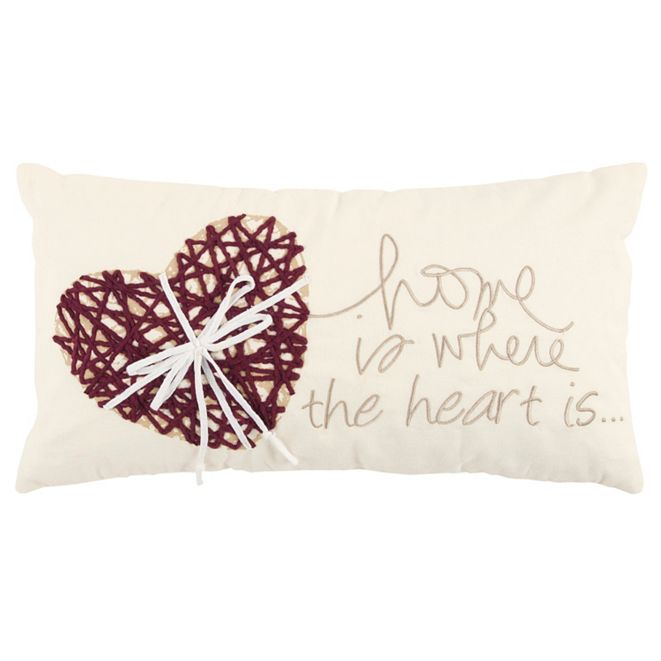 "Rizzy Home 11"" x 21"" Heart Down Filled Pillow"