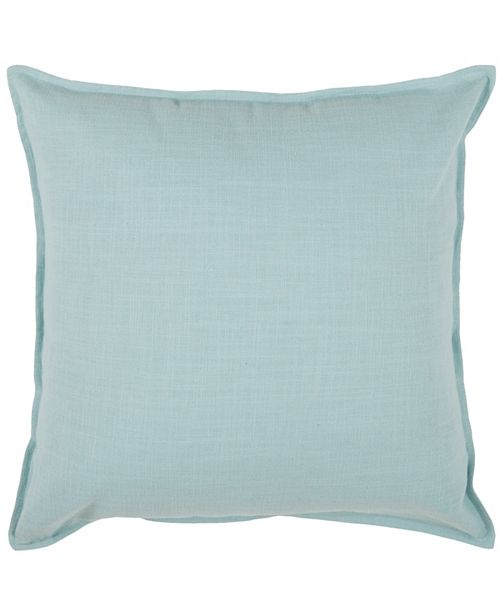 """Rizzy Home Solid 20"""" x 20"""" Down Filled Pillow"""