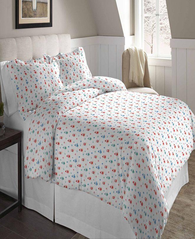 Pointehaven Superior Weight Cotton Flannel Duvet Set - Twin/Twin XL