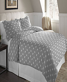 Pointehaven Superior Weight Cotton Flannel Duvet Set Twin Twin XL