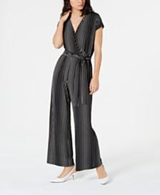 Alfani Printed Wide-Leg Jumpsuit, Created for Macy's