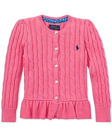 Little Girls Peplum Cardigan