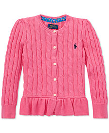 Polo Ralph Lauren Little Girls Peplum Cardigan
