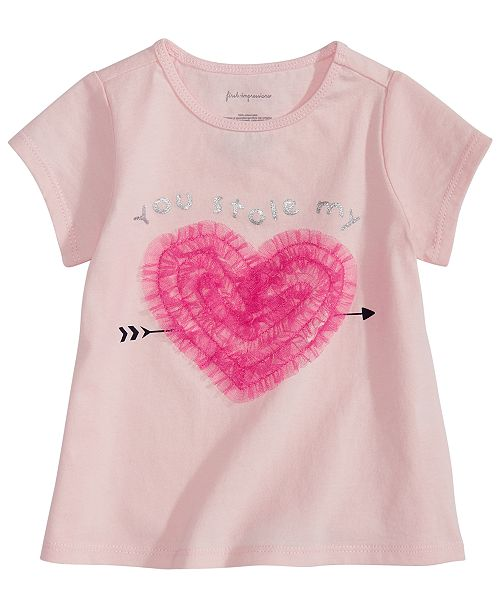 First Impressions Baby Girls Heart-Print T-Shirt, Created for Macy's