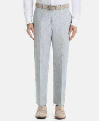 Men's UltraFlex Classic-Fit Stripe Cotton Pants