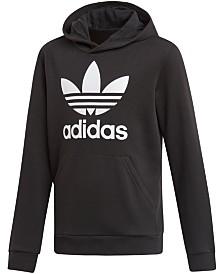 adidas Originals Big Boys Trefoil Logo-Print Hoodie