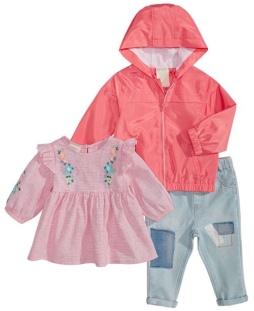 70c901506bb3 First Impressions Baby Girls Hooded Jacket