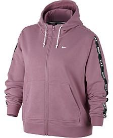 Nike Plus Size Sportswear Logo Zip Hoodie
