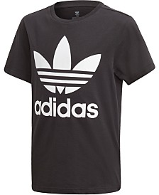 adidas Originals Big Boys Logo-Print Cotton T-Shirt