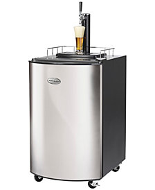 Nostalgia 5.1 Cubic-Foot Full Size Kegorater Stainless Steel Draft Beer Dispenser
