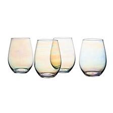 Kiara Luster Stemless Goblets - Set of 4