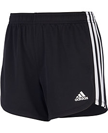 adidas Big Girls 3-Stripe Mesh Shorts