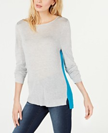 I.N.C. Two-Toned Colorblock Sweater, Created for Macy's