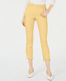I.N.C. Curvy Tulip-Hem Skinny Ankle Jeans, Created for Macy's