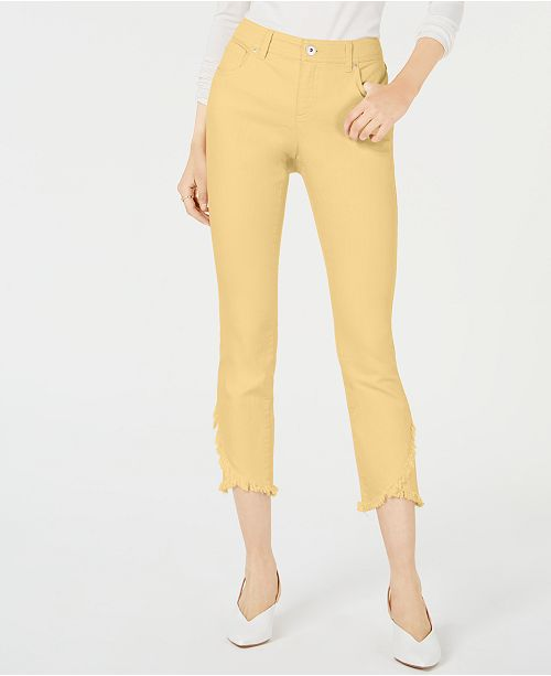 INC International Concepts I.N.C. Curvy Tulip-Hem Skinny Ankle Jeans, Created for Macy's