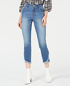 I.N.C. Cropped Tulip-Hem Skinny Jeans, Created for Macy's