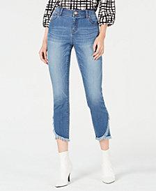 I.N.C. Curvy Cropped Tulip-Hem Skinny Jeans, Created for Macy's