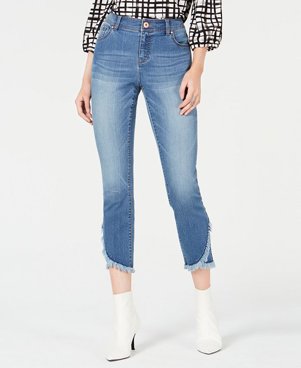 INC International Concepts INC Curvy Cropped Tulip-Hem Skinny Jeans, Created for Macy's