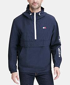 Tommy Hilfiger Men's Hooded Half-Zip Jacket
