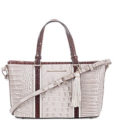 Brahmin Crestview Mini Asher Embossed Leather Satchel