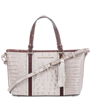 Image of Brahmin Crestview Mini Asher Embossed Leather Satchel