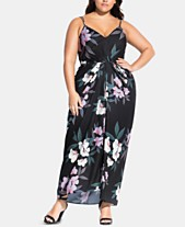 be647e2f5ee City Chic Trendy Plus Size Floral-Print Maxi Dress