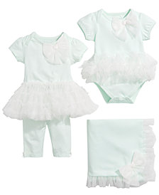 First Impressions Baby Girls Tutu Bodysuit, Tulle-Trim Set & Tulle-Trim Blanket, Created for Macy's