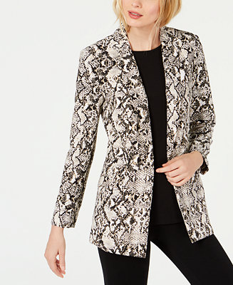 744ff1065 INC International Concepts I.N.C. Snake-Print Blazer, Created for Macy's &  Reviews - Jackets & Blazers - Women - Macy's