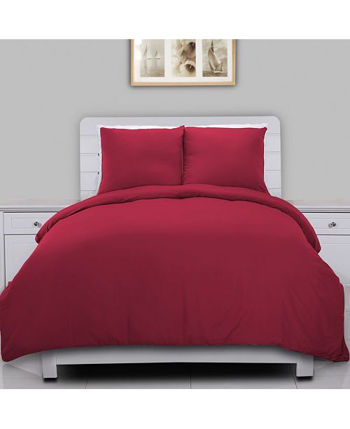 Epoch Hometex inc Lotus Home Water Resistant Duvet Cover Mini Set with Anti-Stain Microfiber