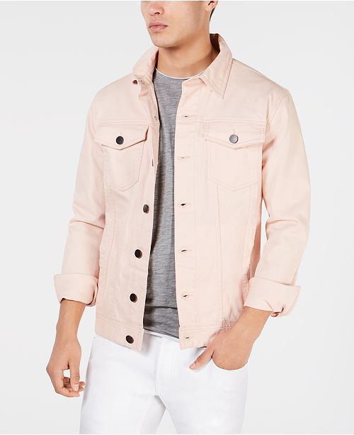 INC International Concepts I.N.C. Men's Coated Trucker Jacket, Created for Macy's