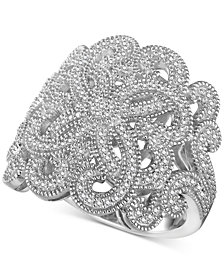 Diamond (3/8 ct. t.w.) Swirl Ring in Sterling Silver