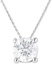 "Diamond Solitaire 18"" Pendant Necklace (1-1/4 ct. t.w.) in 14k White Gold"